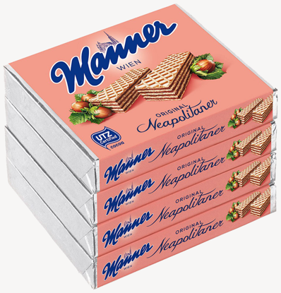 Picture of Manner Schnitten Neapolitan Wafers - Original (pack of 4)