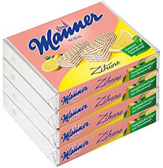 Picture of Manner Schnitten Neapolitan Wafers - Lemon/Zitrone (pack of 4)