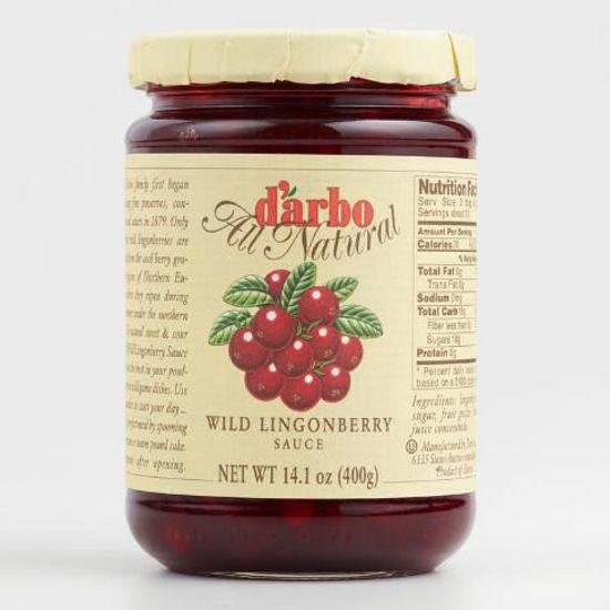 Picture of D'Arbo Wildpreiselbeeren: Wild Lingonberry Sauce 400g