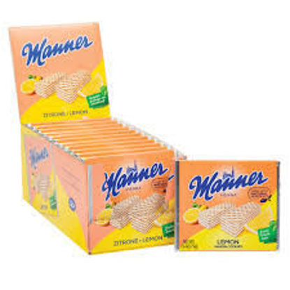 Picture of Manner Schnitten Neapolitan Wafers - Lemon/Zitrone (pack of 12)