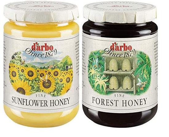 Picture of D'Arbo two-jar honey bundle: Sonnenblumenhonig & Waldhonig