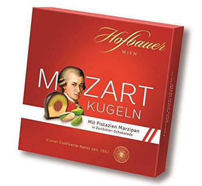 Picture of Hofbauer Mozartkugeln in Zartbitterschokolade - Mozart Kugeln in Dark Chocolate 100g