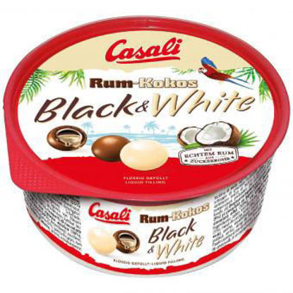 Picture of Casali Rum-Kokos Black & White - rum and coconut chocolate balls 300g