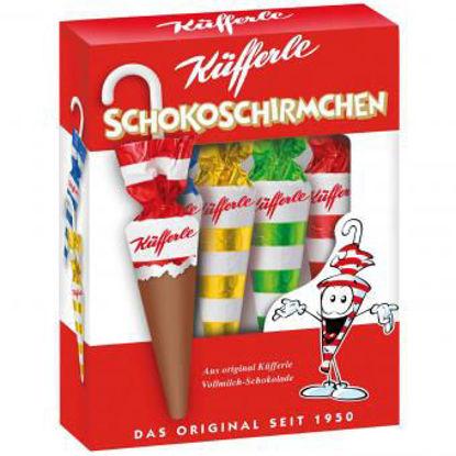 Picture of Küfferle Schokoschirmchen - 4-piece chocolate umbrellas
