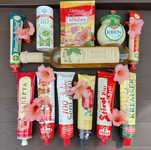 Picture of Austrian Summer BBQ Grillen Box - huge mustard and condiment collection