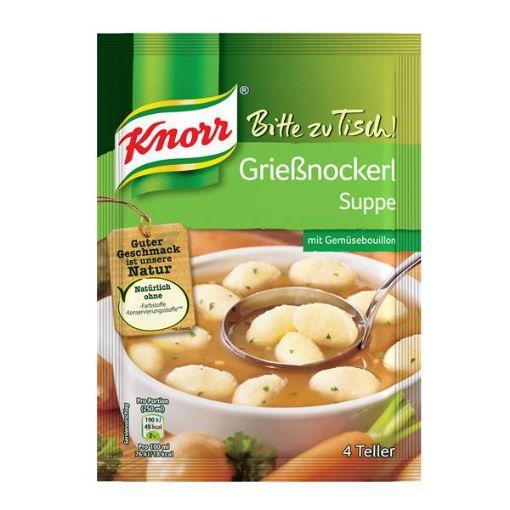 Knorr Grießnockerlsuppe - semolina dumpling soup in vegetable soup